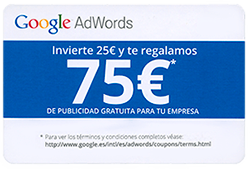75€ en Adwords